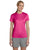 4830 Hanes Ladies' Cool DRI® with FreshIQ Performance T-Shirt - WOW PINK