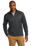 K805 Port Authority® Vertical Texture 1/4-Zip Pullover - IRON GREY