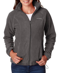 6439 Columbia Ladies' Benton Springs™ Full-Zip Fleece - CHARCOAL