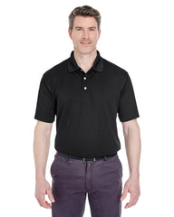 8445 UltraClub Men's Cool & Dry Stain-Release Performance Polo - BLACK