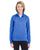 8618W UltraClub Ladies' Cool & Dry Heathered Performance Quarter-Ziper-Zip - ROYAL HEATHER