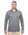 8618 UltraClub Men's Cool & Dry Heathered Performance Quarter-Zip -CHARCOAL HEATHER