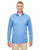 8618 UltraClub Men's Cool & Dry Heathered Performance Quarter-Zip - BLUE HEATHER