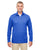 8618 UltraClub Men's Cool & Dry Heathered Performance Quarter-Zip - ROYAL HEATHER