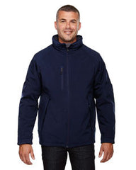 orth End Men's Glacier Mens Insulated Soft Shell Jacket With Detachable Hood - NAVY