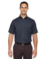 88194 Core 365 Optimum  Men's Short Sleeve Twill Shirts - LogoShirtsWholesale                                                                                                       - 1