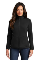 LOG724 OGIO ® Ladies Axis Bonded Jacket - Blacktop
