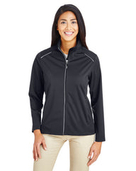 CE708W Ash City - Core 365 Ladies' Techno Lite Three-Layer Knit Tech-Shell - BLACK