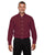 D620 Devon & Jones Men's Crown Woven Collection - BURGUNDY