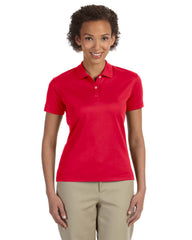 DG200W Devon & Jones Ladies' Pima-Tech™ Jet Piqué Polo - RED
