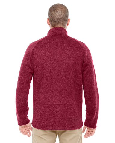 b32b569002ed DG792 Devon   Jones Adult Bristol Sweater Fleece Quarter-Zip