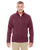 DG792 Devon & Jones Adult Bristol Sweater Fleece - BURGUNDY