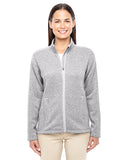 DG793W Devon & Jones Ladies' Bristol Full-Zip Sweater Fleece - GREY HEATHER