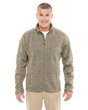 DG793 Devon & Jones Men's Bristol Full-Zip Sweater Fleece - KHAKI