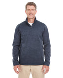 DG798 Devon & Jones Men's Newbury Mélange Fleece - NAVY
