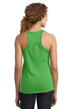 District Made™ Ladies Solid Gathered Racerback Tank  DM420