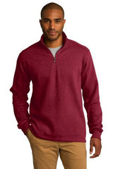 Port Authority® Slub Fleece 1/4-Zip Pullover. F295 - LogoShirtsWholesale                                                                                                       - 1
