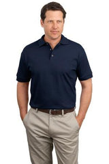 JERZEES J100 Jersey Knit 100% Cotton Polo - LogoShirtsWholesale                                                                                                       - 1