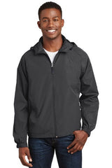 Sport-Tek® Hooded Raglan Jacket. JST73 - Graphite