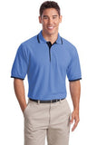K501 Port Authority Silk Touch Stripe Trim - LogoShirtsWholesale                                                                                                       - 1