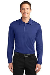 Port Authority® Silk Touch™ Performance Long Sleeve Polo. K540LS - LogoShirtsWholesale                                                                                                       - 1