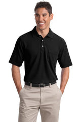 Port Authority® - EZCotton™ Pique Pocket Polo K800P - LogoShirtsWholesale                                                                                                       - 1