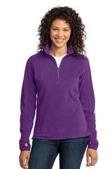 Port Authority® Ladies Microfleece 1/2-Zip Pullover. L224 - LogoShirtsWholesale                                                                                                       - 1