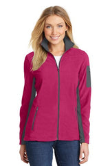 Port Authority® Ladies Summit Fleece Full-Zip Jacket. L233 - Dark Fuchsia