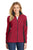 Port Authority® Ladies Summit Fleece Full-Zip Jacket. L233 - Rich red