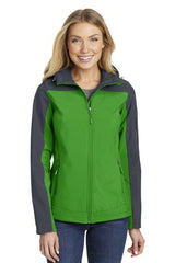 Port Authority® Ladies Hooded Core Soft Shell Jacket. L335 - LogoShirtsWholesale                                                                                                       - 1