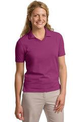 L455 Port Authority Ladies' Rapid Dry Pique Polo - LogoShirtsWholesale                                                                                                       - 1