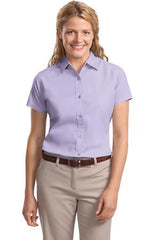 L508 Port Authority Ladies Short Sleeve Easy Care Shirt - LogoShirtsWholesale                                                                                                       - 1
