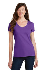 Port & Company® Ladies Fan Favorite V-Neck Tee. LPC450V - PURPLE