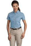 LSP11  Ladies Short Sleeve Value Denim - LogoShirtsWholesale                                                                                                       - 1