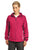 Sport-Tek® Ladies Colorblock Hooded Raglan Jacket. LST76 - PINK RASPBERRY