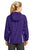 Sport-Tek® Ladies Colorblock Hooded Raglan Jacket. LST76 - PURPLE