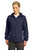 Sport-Tek® Ladies Colorblock Hooded Raglan Jacket. LST76 - TRUE NAVY