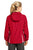 Sport-Tek® Ladies Colorblock Hooded Raglan Jacket. LST76 - TRUE RED
