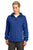 Sport-Tek® Ladies Colorblock Hooded Raglan Jacket. LST76 - TRUE ROYAL