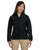 M990W Harriton Ladies' 8 oz. Full-Zip Fleece - BLACK