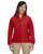 M990W Harriton Ladies' 8 oz. Full-Zip Fleece - RED