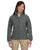 M990W Harriton Ladies' 8 oz. Full-Zip Fleece - CHARCOAL