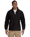 M990 Harriton Men's 8 oz. Full-Zip Fleece - BLACK