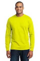 Port & Company® - Long Sleeve 50/50 Cotton/Poly T-Shirt. PC55LS- Safety Colors - LogoShirtsWholesale                                                                                                       - 1