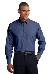 Port Authority® Tall Crosshatch Easy Care Shirt. TLS640 - DEEP BLUE