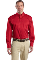 CornerStone® - Long Sleeve SuperPro Twill Shirt. SP17. - LogoShirtsWholesale                                                                                                       - 1