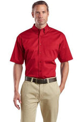 CornerStone® - Short Sleeve SuperPro Twill Shirt. SP18. - LogoShirtsWholesale                                                                                                       - 1