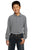 Y320 Port Authority® - Youth Long Sleeve Pique Knit Shirt - LogoShirtsWholesale                                                                                                       - 1
