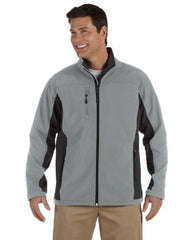D997 Devon & Jones Men's Soft Shell Colorblock Jacket - LogoShirtsWholesale                                                                                                       - 1