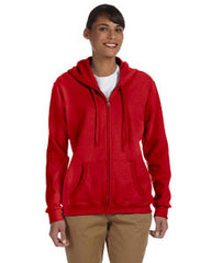 G186FL Gildan Ladies' 8 oz. Heavy Blend™ 50/50 Full-Zip Hood - LogoShirtsWholesale                                                                                                       - 1